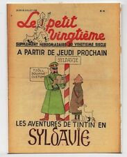Carte Tintin. Petit Vingtième n°30 du 28 Juillet 1938. Tintin en Syldavie. NEUF