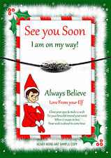 Wishing Bracelet Elf Santa Christmas Gift Believe Stocking Fun For On The Shelf