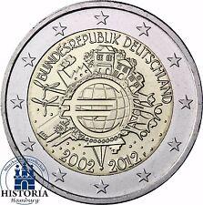 10 Jahre Bargeld 2 Euro Deutschland Gemeinschaftsausgabe 2012 Stempelglanz Mzz F