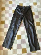 Ladies Soft Brown Leather Trousers. Size 14