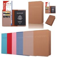 Fashion Passport Holder Travel Wallet ID Cards Case Cover Organizer Protector