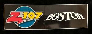 Z107 Houston radio BOSTON rock band bumper sticker