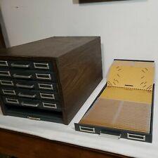 Vtg Steelmaster Industrial Metal 6 Drawer Flat Card File Photo Library Cabinet