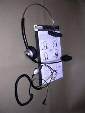 Labtec C-315 Black Headband Headset (1 Ear) Boom Microphone w/ User Manual/Sheet