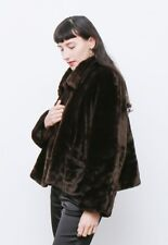 Vintage 1980's Faux Fur Brown Pierre Cardin Winter Coat