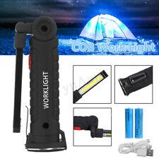 LED COB Pen Light Pocket Clip Magnet Work Inspection Torch Lamp USB Rechargeable
