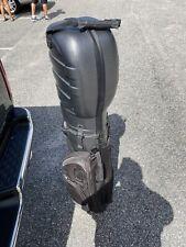 Bag Boy Hard shell Travel bag silver black streamlined compact