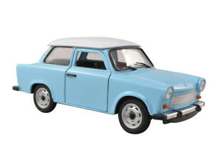 Trabant 601 in Blue (1:24 scale by Welly 24037B)