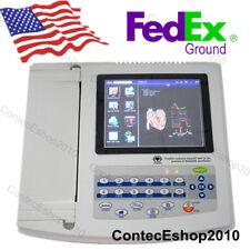 "FDA&CE touch 12 channel 12 lead 8"" color LCD digital ecg/ekg electrocardiograph"