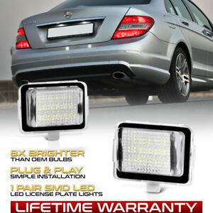 2008-2011 Merecedes C/E/S Class CLS FULL LED License Plate Lights Pair Lamps SET