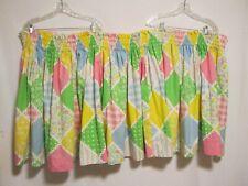 "Colorful Cotton Print Bassinet Skirt for Baby Bassinet  27"" long"