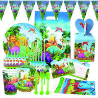 Paper Dinosaur Dinner Plate Set Birthday Themed Party Disposable Supplies HOT