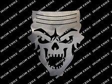 Piston Top Skull Metal Hot Rat Rod Garage Wall Art Decor Plasma Cut USA Made