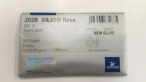 sealed package,1440 swarovski hot-fix xilion flatbacks,8ss siam #2028