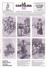 LA CARTOLINA N.33 - Rivista 1989 - Della Valle Bicicletta Mail Art Testatine