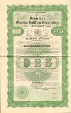 Danielson Masonic Building Connecticut bond certificate