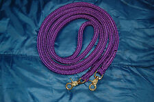 10' PURPLE YACHT ROPE SNAP-ON FINESSE REIN FOR PARELLI TRAINING METHOD