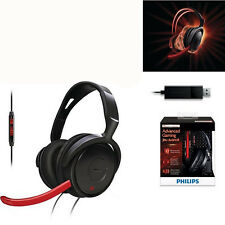 Philips SHG7980 PC Gaming Headset Adjustable microphone USB GENUINE