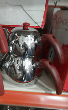 Stainless Steel Turkish Teapot Samovar Double Kettle Caydanlik Small Size