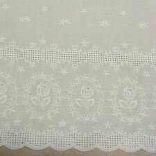 Broderie Anglaise Flat White Lace Trim 40mm wide by John Lewis per METRE cotton