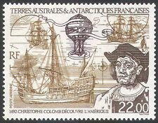 FSAT/TAAF 1992 Columbus/Ships/Hot Air Balloon/Sailing/Transport 1v (n23154)