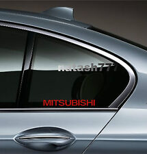 2 - MITSUBISHI Sport Racing Decal sticker emblem logo RED
