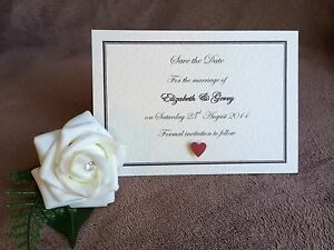 10 x Personalised Handmade Save the Date Cards- Weddings