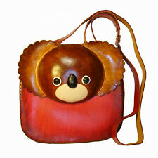 Genuine Leather Koala Bear Design Shoulder Bag, Unique and Lovely.