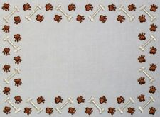 Paws & Dog Bones Embroidered Quilt Label to Customize for quilt tops or blocks