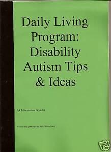 Daily Living Program: disability autism ideas A4 copy