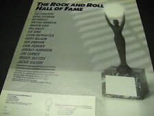 Rock & Roll Hall Of Fame 1987 promo ad Bill Haley Orbison Ricky Nelson Gaye more