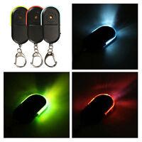Wireless Anti-Lost Alarm Key Finder Locator Keychain Whistle Sound LED LightUKFG