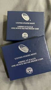 TWO Rare 2016 West Point Silver Eagles PROOF, mint condition, never touched LOOK