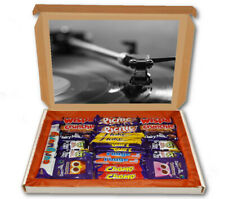 Retro Record Player Vinyl 24 Bar Cadbury Chocolate Hamper Personalised Gift Box
