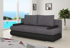 Design Schlafsofa Couch Polster 3 Sitzer Stoff Couch Gästezimmer Sofas Sofa Neu