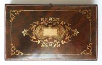 écrin boite pour nécessaire de couture Napoleon III 19e siècle bois marqueterie