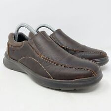 Clarks Cotrell Step Slip-On Leather Brown Shoes Men's Size 7 M