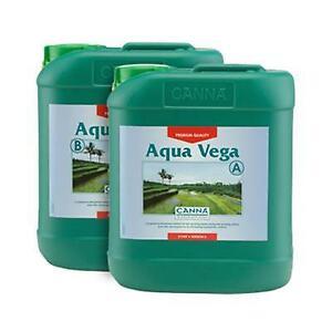 CANNA Aqua Vega Fast Working Nutrient Flowering Strong Plants Hydro 5L A&B SET