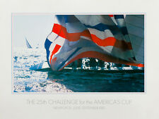 Classic America's Cup 1983 poster, The 25th CHALLENGE, signed - FEBRUARY SALE