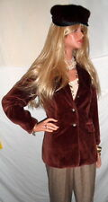 **The PERFECT sz8 Zins Brown Velvet Jacket French Designer Classic WOW~WOW~WOW*