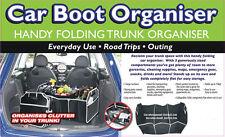 Black Carpet Car boot Tidy Organizer storage Trunk Bag Tools Unit Care Box Hot
