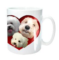 Bichon Frise Dog Mug 3 Bichons Heart, Bichon Dog Birthday Gift Mothers Day Gift