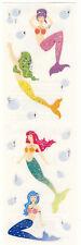 Mrs. Grossman's Stickers - Reflections Mermaids - Pink, Green, Blue - 3 Strips