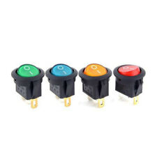 16A 12V ON/OFF Led Dot Round Rocker SPST Toggle Switch For Car Boat Light 4pcs