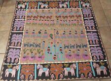 Rare, Vintage Indian Shrine Cloth by Pilgrims/Uttar Pradesh/Applique, Embroidery