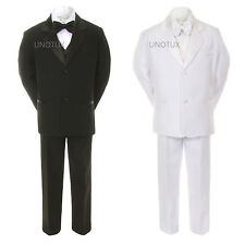 Boys Toddler Baby Teens Wedding Baptism Communion Black or White Tuxedos Suits