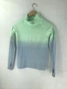 Lululemon Iviva Long Sleeve Shirt, Athletic. Size Girl's 10 Green Thumbhole