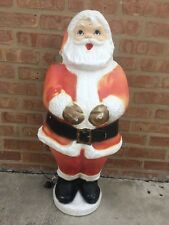 "Rare Vintage 31"" Santa Clause Blow Mold Christmas General Foam Beco #0975 1950's"