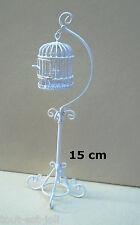 cage à oiseaux en métal miniature, maison de poupée, vitrine,vogelkooi occ2