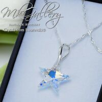 925 Sterling Silver Necklace Crystal AB 20mm Star Crystals from Swarovski®